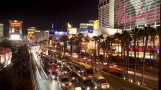 Busy Vegas Street Timelapse