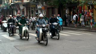 Busy Vietnam Roadway Traffic