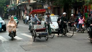 Busy Vietnam Street Traffic