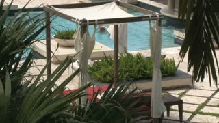 Cabana Near Pool at Hotel Resort