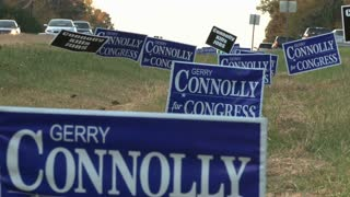 Campaign Signs in the Median 2