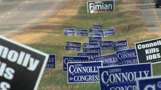 Campaign Signs in the Median