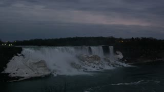 Canadian Side Niagara Falls in Evening