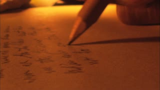 Candle Lit Writing