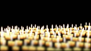 Candles in the night, Holiday Background, seamless Loop