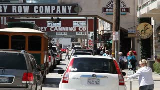 Cannery Row Busy  Tourists Monterey California