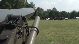 Cannon and Reenactors