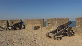 Cannons Along Castle Wall