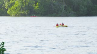 Canoeing Along Potomac River