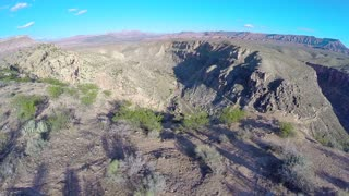 Canyon aerial flyover edge 2