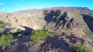 Canyon aerial flyover edge