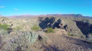Canyon aerial flyover
