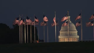 Capitol and Waving Flags
