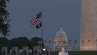 Capitol Building and Flags