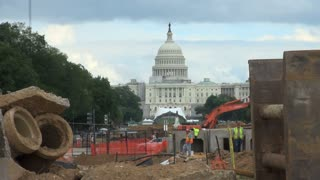 Capitol Building Through Construction Zone 1
