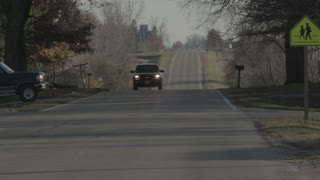 Car Driving on Rural Neighborhood Road 1