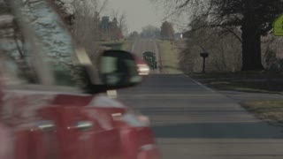 Car Driving on Rural Neighborhood Road 2