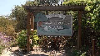 Carmel Valley Village California Welcome Sign