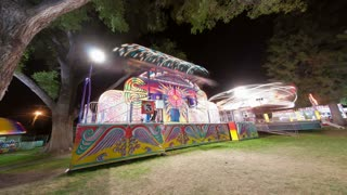 Carnival spin ride with time lapse