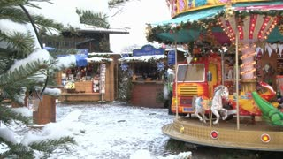 Carousel In Snow