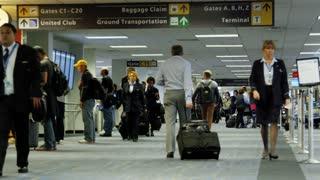 Carrying Luggage Through Terminal