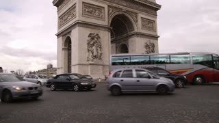 Cars Around the Arc de Triomph in Paris