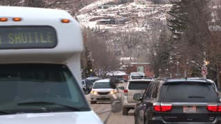 Cars Driving Through Aspen