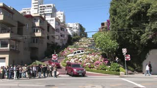 Cars Zigzagging Down Lombard Street