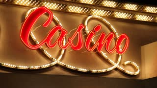 Casino Sign Blinking Lights