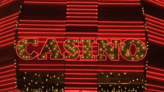 Casino Sign Flashing Lights