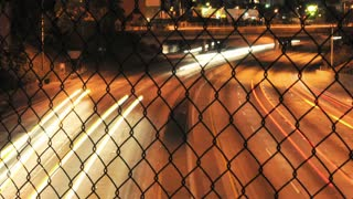 Chain Link Fence Highway Timelapse