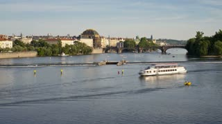 Charles Bridge,  River Vltava, Prague, Czech Republic, Europe, T/Lapse
