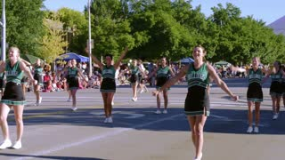 Cheerleaders in a Parade