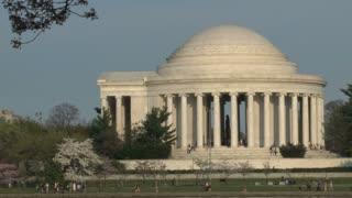Cherry blossoms and Thomas Jefferson Memorial 5