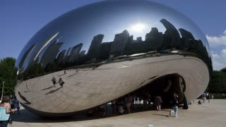 Chicago Cloud Gate Timelapse