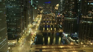 Chicago Roadway Night Timelapse