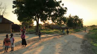 Children Playing in the Dirt Road in Kenya 2