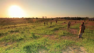 Children Playing in the Fields in Kenya