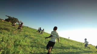 Children Playing Soccer on the Fields 5