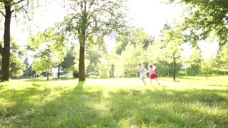 Children running in the park
