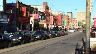 Chinatown Toronto Timelapse 3a. Chinatown along Toronto's Dundas Avenue, shot in time lapse in late afternoon, zooming out. Rendered in UltraHD 4K from high resolution stills.