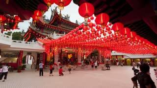 Chinese Lanterns Thean Hou Temple, Kuala Lumpur, Malaysia, Southeast Asia, Asia, Time lapse