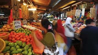 Chow Kit fruit and vegetable street market, Kuala Lumpur, Malaysia, Asia