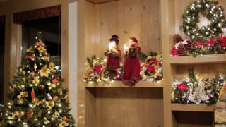 Christmas Caroler Dolls on Shelf