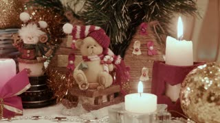 Christmas decoration, Bears with candles