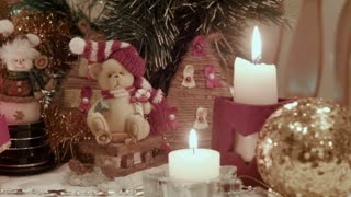 Christmas decoration, bears and candles