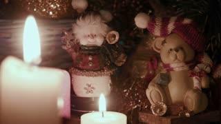 Christmas decoration. Candle