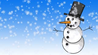 Christmas Holiday Snowman in Snow