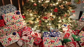 Christmas Presents Under Tree Timelapse