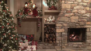 Christmas Scene by the Fire 2